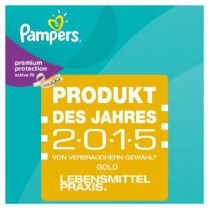 Pampers Active Fit Auszeichnung